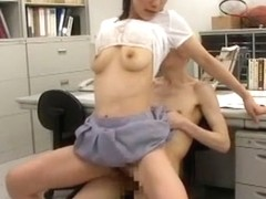 Exotic Japanese model Sachika Manabe, Yayoi Orikasa, Yuki Takarabe in Hottest Office, Big Tits JAV.