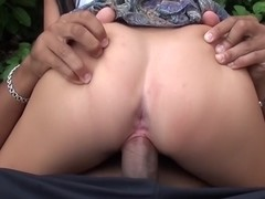 Bella Margo  in outdoor sex scene with a hot gal and endowed dude