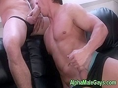 Gay hunks sucking on each others cocks