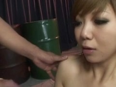 Gangbanged Honoka Kuriyama takes cocks in all holes