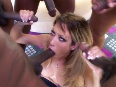 Capri Cavanni Interracial Group Bang