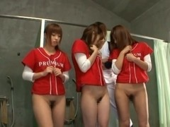 Japanese model in baseball team gangbang
