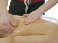 Nice guy made babe so happy and satisfied after massage