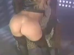 Danni Ashe leather strip dance