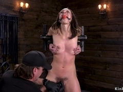 Newbie hairy slut tormented in dungeon
