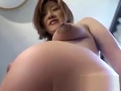 Japanese pregnant big milking tits