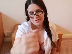 Naughty Schoolgirl Makes Her Stepdad Cum