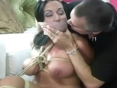 Girl is Roped and Struggles