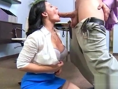 Hardcore Sex Tape In Office With Big Melon Tits Girl (casey cumz) video-15