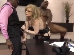 Nina Hartley legendary pornstar fucked by 2 blacks