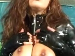 Francesca Lee in PVC