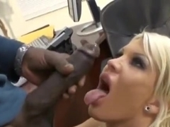 Godly breasty Michelle McLaren in interracial porn video