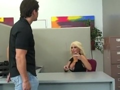 Holly Halston fucked by her colleague