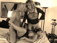 German Couple Share Mature Tranny (Recolored)