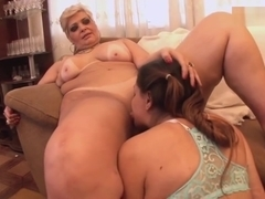 Plump Dominant Woman Forces Young Woman To Satisfy Her