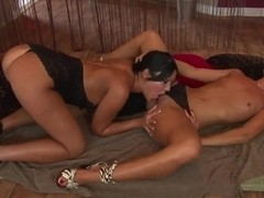 Horny and crazy bitches Angelica Heart and Jane F. are ready for an awesome action