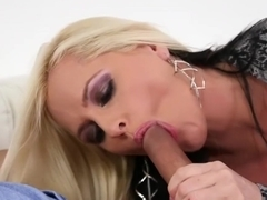 Alluring Alena Croft has big tits and sucks hard cock