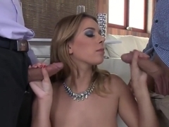 Dp Fucked Euro Babe Gets Fed With Hot Cum