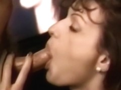 Young masturbating retro babe facialized