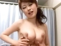 Blowjob and russian asian nurse