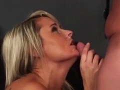 Unusual Bombshell Gets Jizz Load On Her Face Eating All The