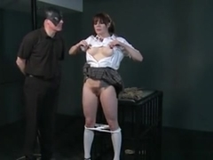Busty Sub In Cotton Panties Spanked