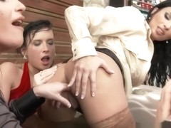 Classy lesbian fingering babes pussies