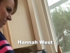 Hannah West, anal sex in the kitchen