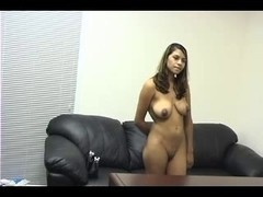 Latina enjoys some interracial fun with her interviewer