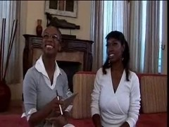 Delotta brown & Misti love, ebony threesome