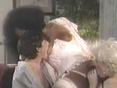 Interracial Vintage 3some With A black ladyboy