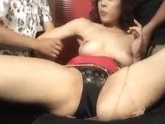 Natsumi Mitsu gets cum on face from dicks she sucked before fuck