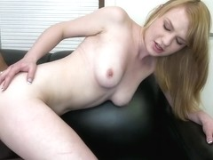 Amateur Blonde Gets A Face Full Of Cum