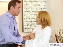 Sexy masseuse gives her stepdad an erotic nuru massage