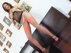 Sapphix presents Mercia in a solo masturbation scene