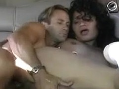 Hot fucking with a tranny in a car