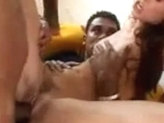 Claudia Rossi - Interracial Fuckfest